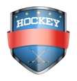 Hockey Shield badge vector image