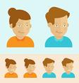 set of flat cartoon avatars vector image vector image