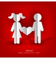 white paper men and woman vector image