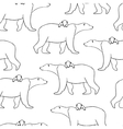 Seamless pattern with polar bear and cub vector image