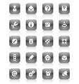 Black buttons miscellaneous vector image