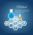 medical laboratory chemistry service vector image