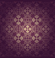 seamless floral baroque purple background vector image