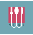 Stylish restaurant menu design in minimal style vector image