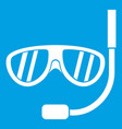 swimming mask icon white vector image