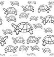 turtle contour pattern vector image