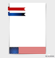 White paper with ribbon 4th of July Happy vector image
