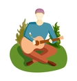 Guitar song vector image