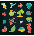 sunmmer icons vector image