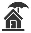 House under Umbrella Flat Icon vector image