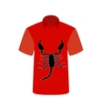 T-shirt with the image of Scorpio vector image
