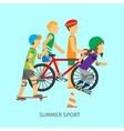Summer sport Active way of Life Conceptual Banner vector image