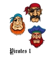 Cartoon danger pirates vector image vector image