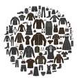 Set of Women s and Mens Clothing icons vector image vector image