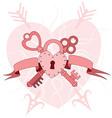 heart lock with keys vector image