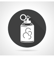 Grenade black round icon vector image
