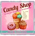 Vintage Candy Shop Poster vector image