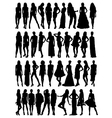 female model silhouettes vector image