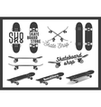 set of skateboard emblems labels badges vector image