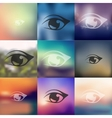 eye icon on blurred background vector image