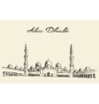 Abu Dhabi mosque Sheikh Zayed Mosque drawn vector image