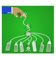 businessman controls the economy vector image