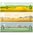 colorful landscapes nature vector image