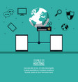 file hosting technology vector image