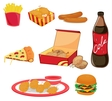 Junk food vector image