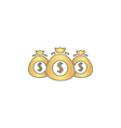 Money bag computer symbol vector image