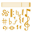 notes music melody colorfull musician vector image