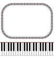 piano keys frame vector image