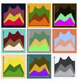 set of flat icons on stylish background financial vector image