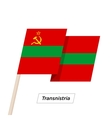 Transnistria Ribbon Waving Flag Isolated on White vector image