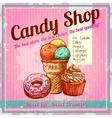 Vintage Candy Shop Poster vector image