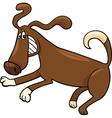playful dog cartoon vector image