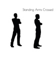 man in Standing Arms Crossed pose on white vector image