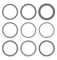 set of round rope frame collection vector image