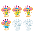 Cartoon chibi fantasy creatures vector image