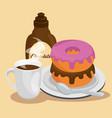 dessert muffin sweet icon vector image