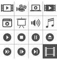 Video icon set vector image