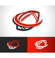 Swoosh Football Logo Icon vector image