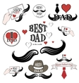 Happy fathers day set vector image vector image