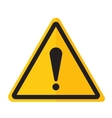 Danger warning exclamation point sign icon vector image
