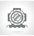 Diving helmet black line icon vector image