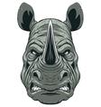 Ferocious rhinoceros head vector image
