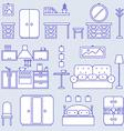 Furniture line icon design vector image