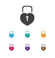 of love symbol on padlock icon vector image