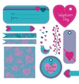 Valentines Day set of design elements vector image