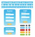 web site design elements vector image